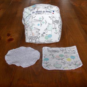 Distributeur de lingettes lavables bébé